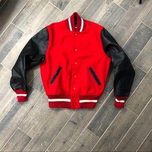 Vintage Whiting Varsity Jacket Red & Black